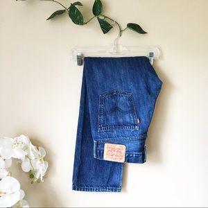 Levi's • 514 Straight Fit Blue Denim Jeans • 32